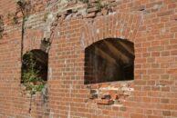 Die im Krieg gesprengte Dömitzer Eisenbahnbrücke über die Elbe.