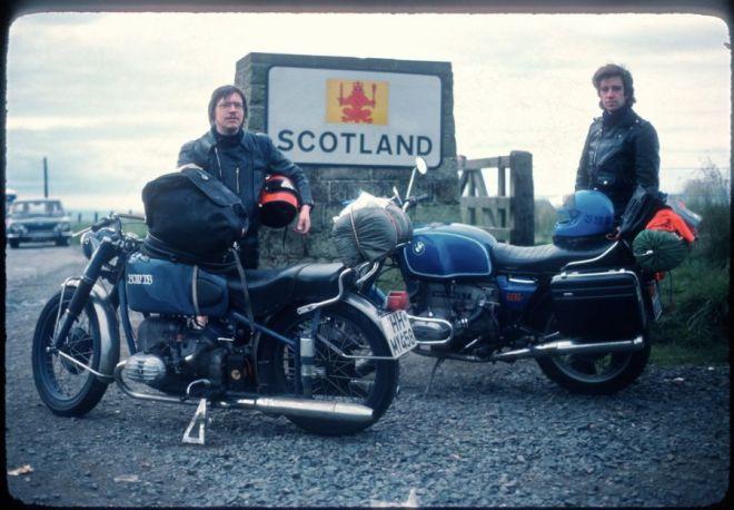 Mit John auf dem Weg nach Schottland.