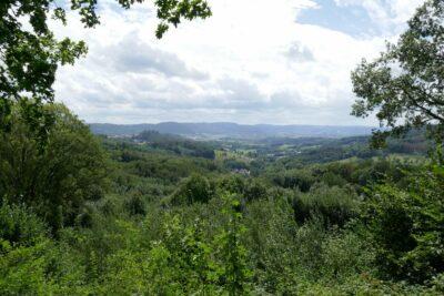 """Im """"Kracher"""", wie man den Odenwald hier nennt."""